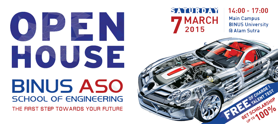 BINUS ASO School of Engineering OPEN HOUSE ( FREE )