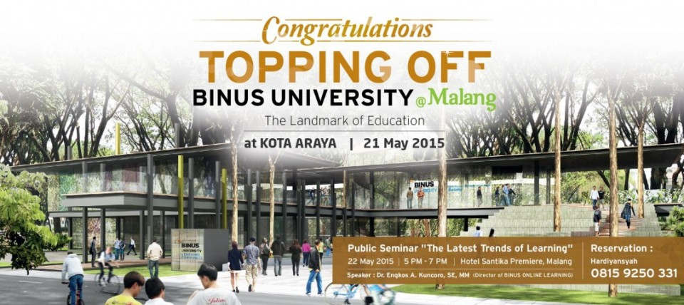 Topping Off BINUS UNIVERSITY @Malang