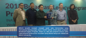 Once-in-a-lifetime offer – BINUSIANs part of Asian Games 2018